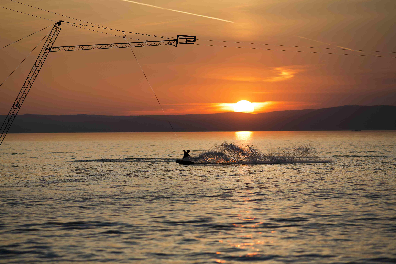 sunset boarden, letzte Betriebsstunde